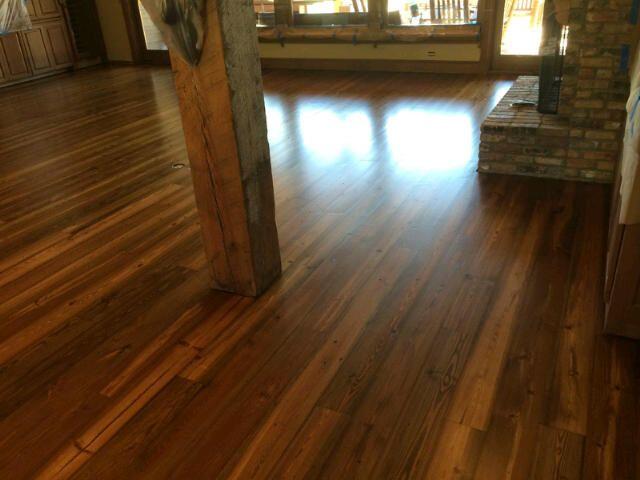 Antique reclaimed heart pine flooring interstate for Antique pine flooring